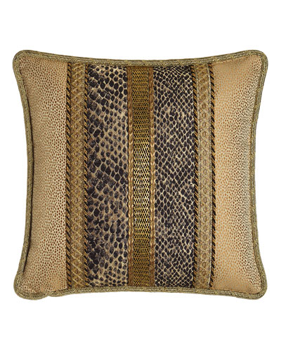 Andromeda Pieced Pillow with Beading, 18