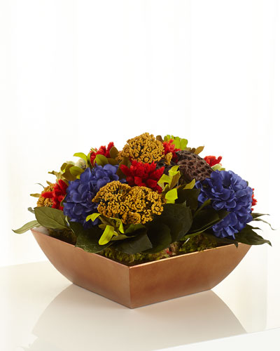 Brilliant Pave Faux-Floral Arrangement