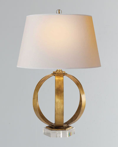 Quick look prodselect checkbox metal banded table lamp