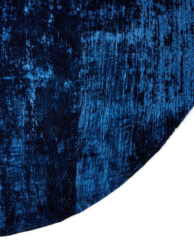 Sapphire Velvet Table Skirt
