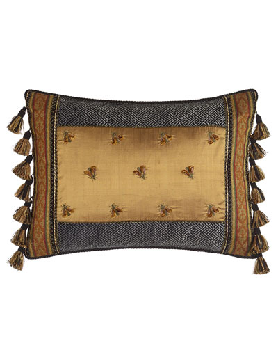 Shangri-La Pillow with Embroidered Bees, 14