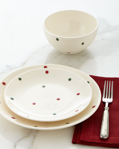 12-Piece Polka-Dot Dinnerware Service
