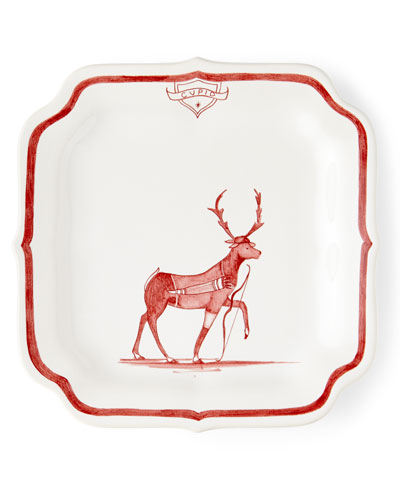 Country Estate Ruby Reindeer Games Cupid Party Plate