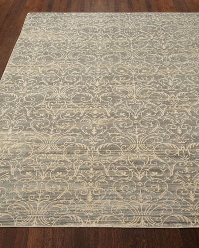 Courtly Blue Rug, 9'3