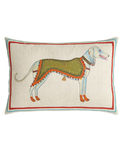 Hand-Painted Dog Pillow, 12