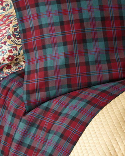 Queen Bohemian Muse Ardmore Plaid Flat Sheet