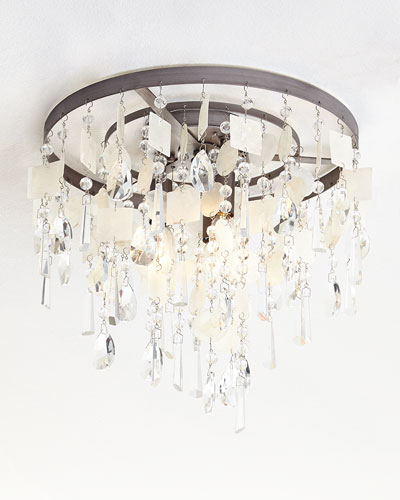 capiz shell lighting - Capiz Shell Chandelier