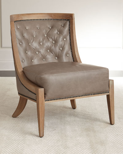 Quick Look. ProdSelect Checkbox. Wadsworth Tufted Leather Chair