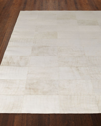 Dooley Ivory Leather Rug, 11'6