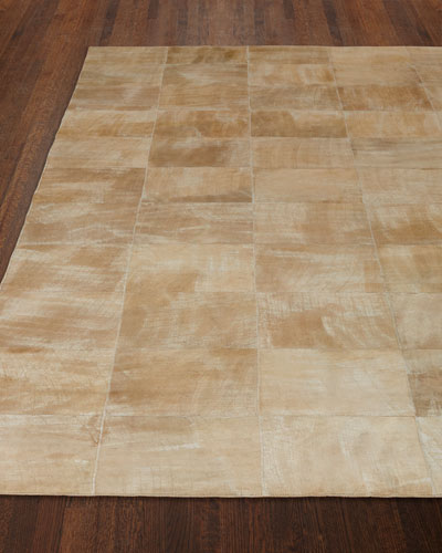 Dooley Beige Leather Rug, 9'6