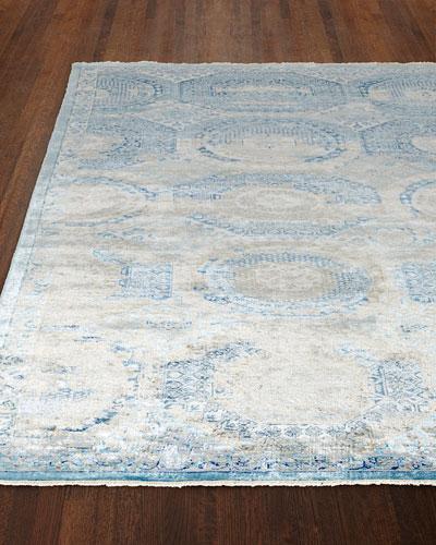 Venetian Blue Fine Rug, 8' x 10'