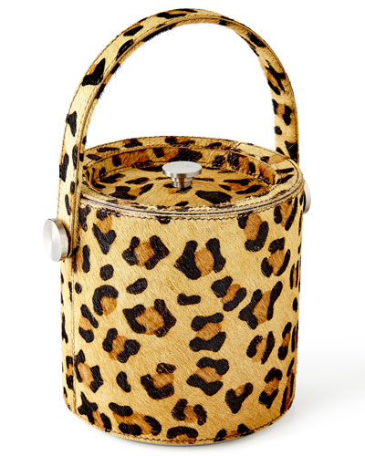 Leopard Ice Bucket & Tongs