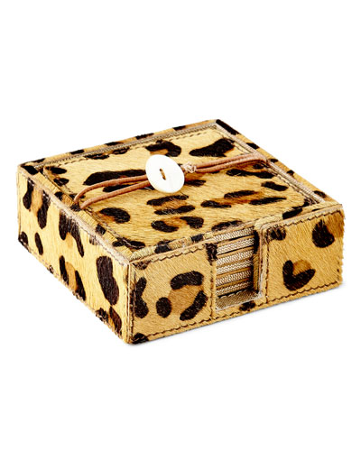 Leopard Coasters, Set of 6