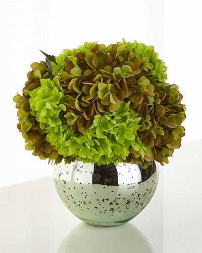 Gorgeous Greens Faux-Floral Arrangement