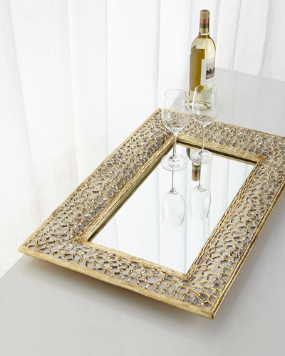 Bathroom Mirror Tray decorative tray | horchow