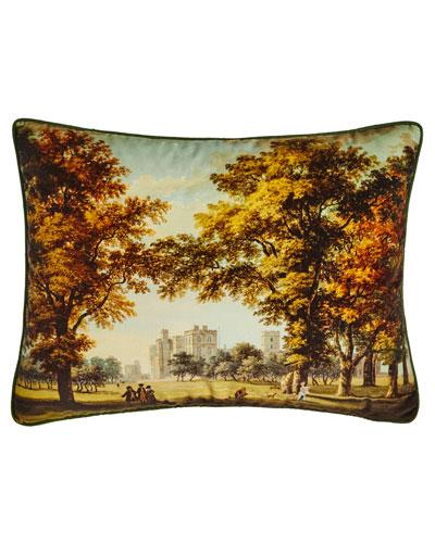 Windsor Velvet Moss Pillow