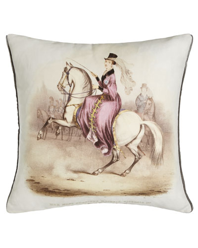 Queen Victoria Amethyst Pillow