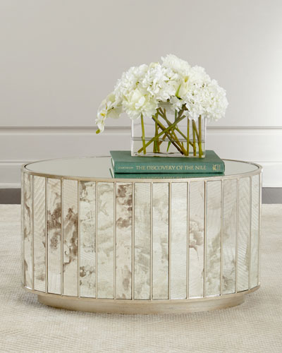 Roma Oval Mirrored Coffee Table