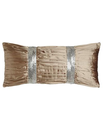 Gretta Ruched Silk Pillow, 12