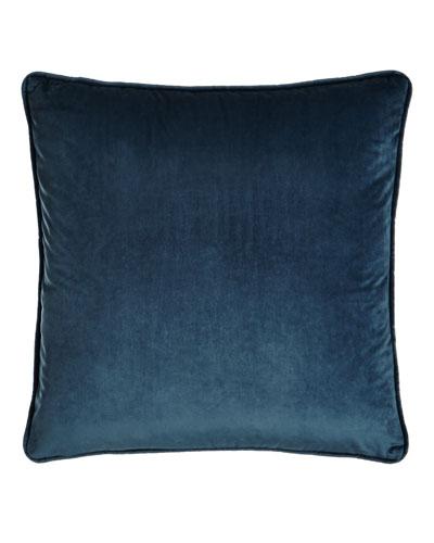 Blue Velvet Pillow, 18