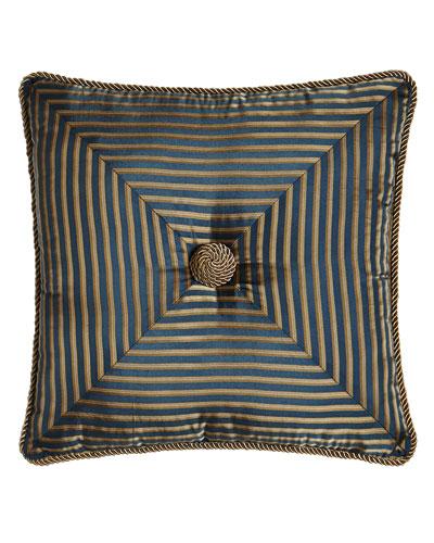 Mitered-Stripe Pillow, 18