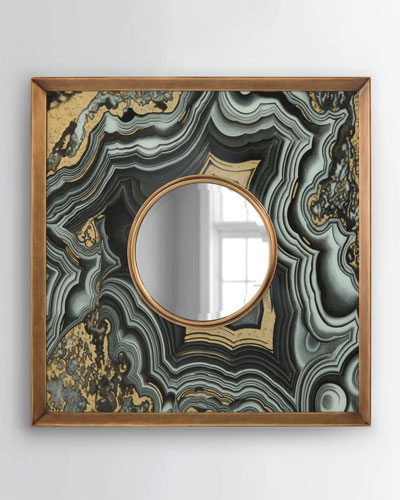 Agate-Design Mirror