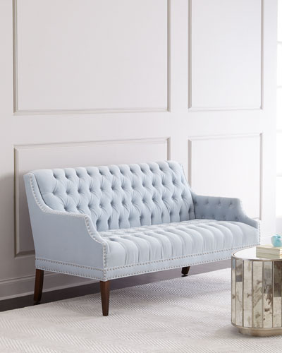 Capaldi Dove Tufted Settee
