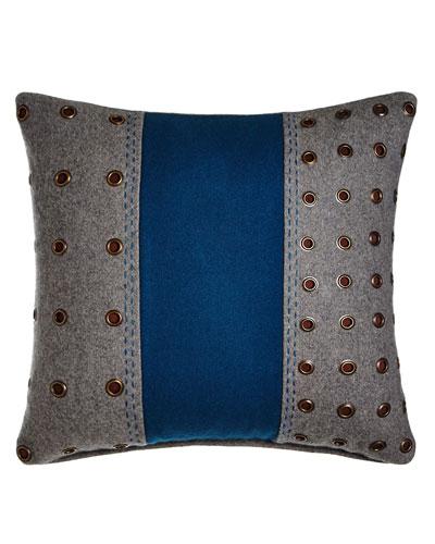 Cologne Two-Tone Felt Pillow