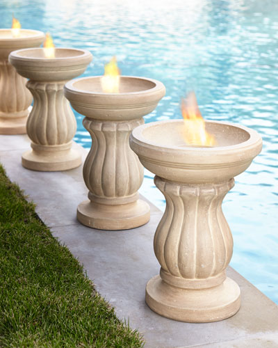 Fluted Outdoor Fire Urn