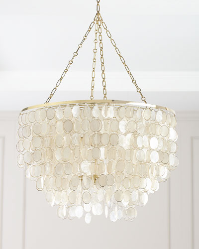 quick look - Capiz Shell Chandelier