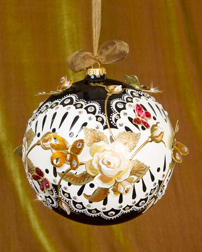 Rose Artisan Christmas Ornament