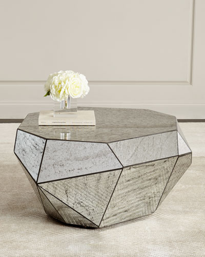 e6a7f608e9be Quick Look. prodSelect checkbox. Dimensional Antiqued-Mirror Coffee Table