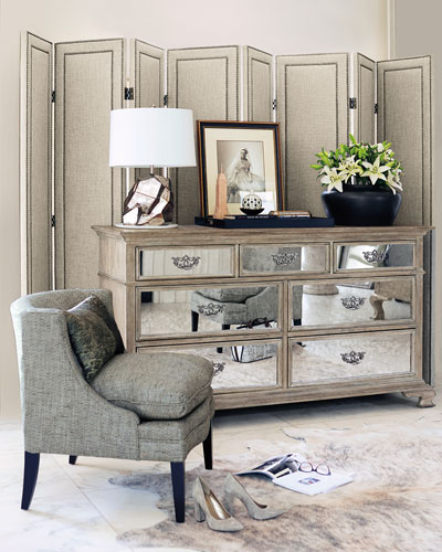 Antiqued Mirrored Bedroom Furniture | horchow.com