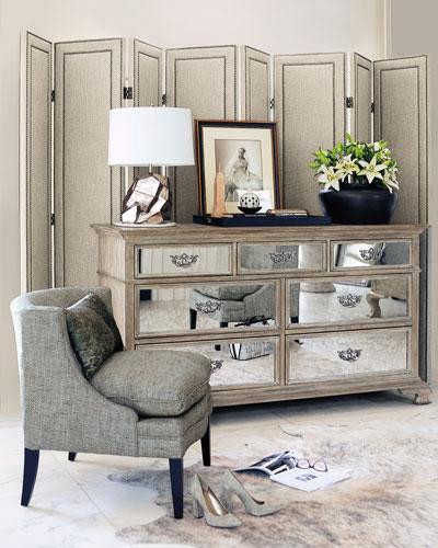 Antiqued Mirrored Bedroom Furniture | horchow.com