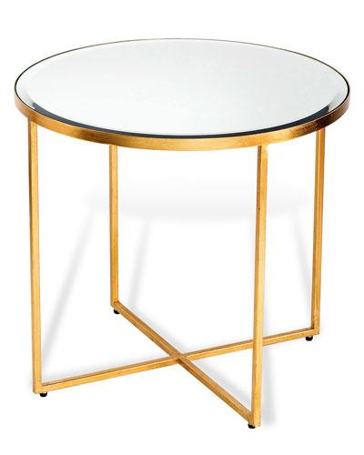 Marissa Gold-Leaf Side Table