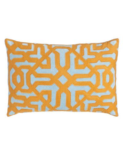 Moroccan Screen Orange Pillow