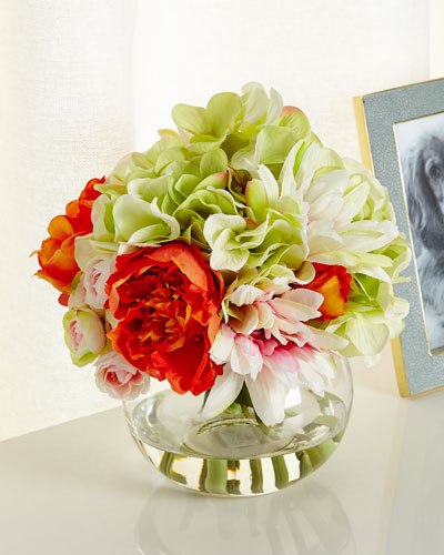 Peony Surprise Faux-Floral Arrangement