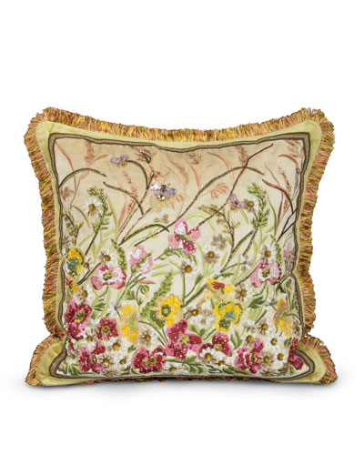 Square Poppies Pillow