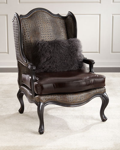 Quick Look Prodselect Checkbox Sarah Leather Wingback Chair