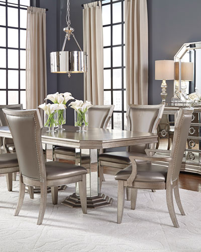 Aria Double-Pedestal Dining Table
