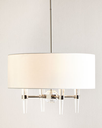 Shaded Lucite Pendant Light