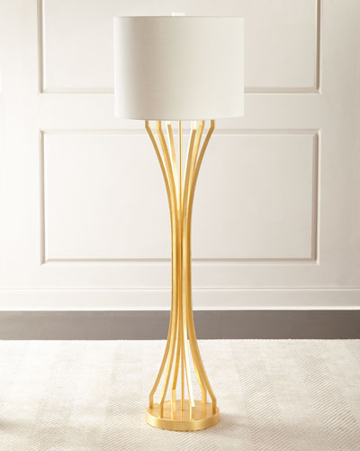 Gold leaf lamp horchow quick look prodselect checkbox gold leaf hourglass floor lamp aloadofball Images