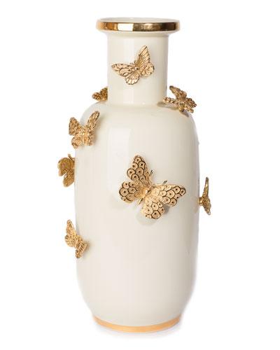 Heather Butterfly Vase
