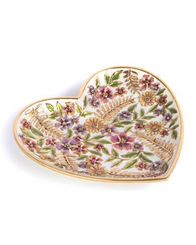 Aria Floral Heart Trinket Tray