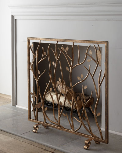 Quick Look. prodSelect checkbox. Bird and Branch Fireplace Screen - Decorative Fireplace Screen Horchow.com