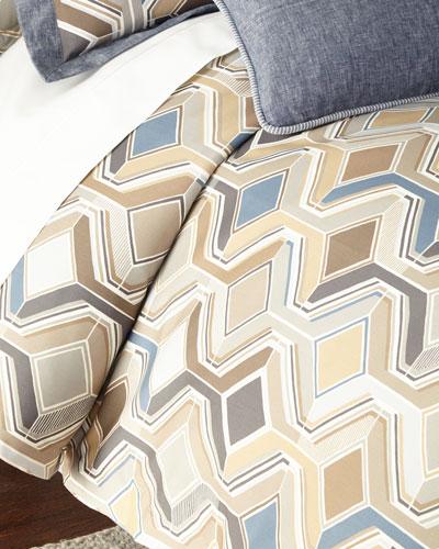 Queen Maze Geometric Duvet Cover