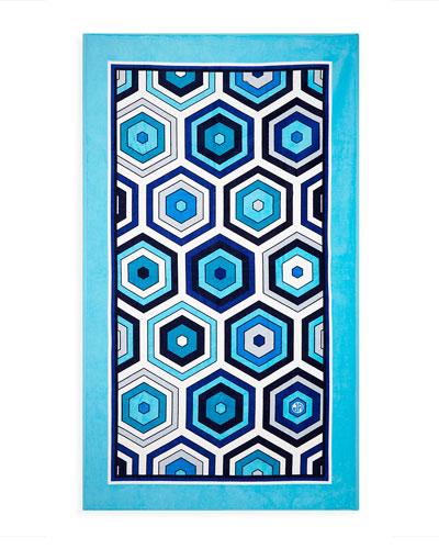 Honeycomb Beach Towel- Blue
