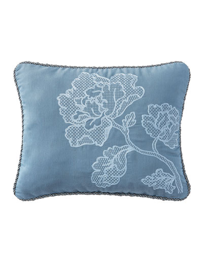 Reversible Blossom Pewter Pillow, 16