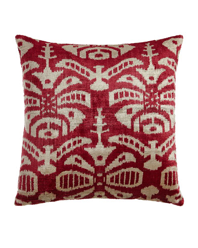 Pink Ivy Silk Velvet Pillow, 20