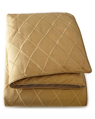 Queen Diamond-Trellis Duvet Cover